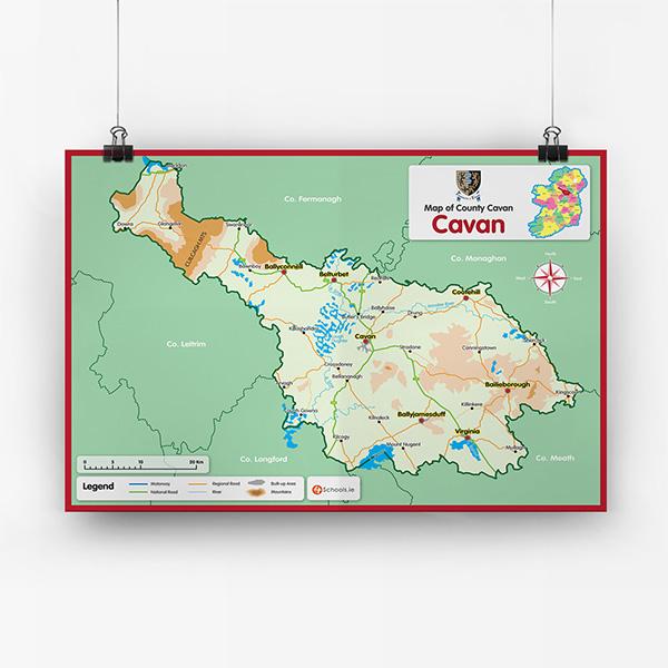 Map Of Ireland Cavan.Cavan County Map 4schools Ie