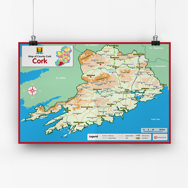 Blank Map Of Ireland 32 Counties.Maps And Charts 4schools Ie